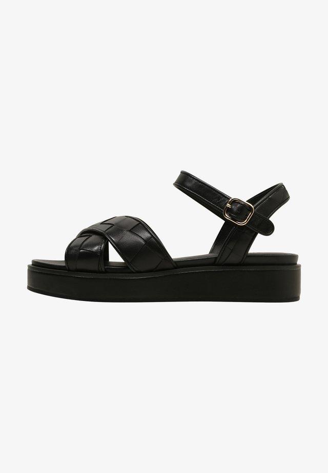 DAISY - Sandalen met plateauzool - black