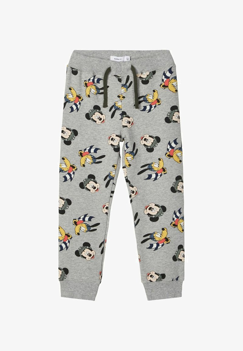 Name it - MICKEY MOUSE - Tracksuit bottoms - grey melange