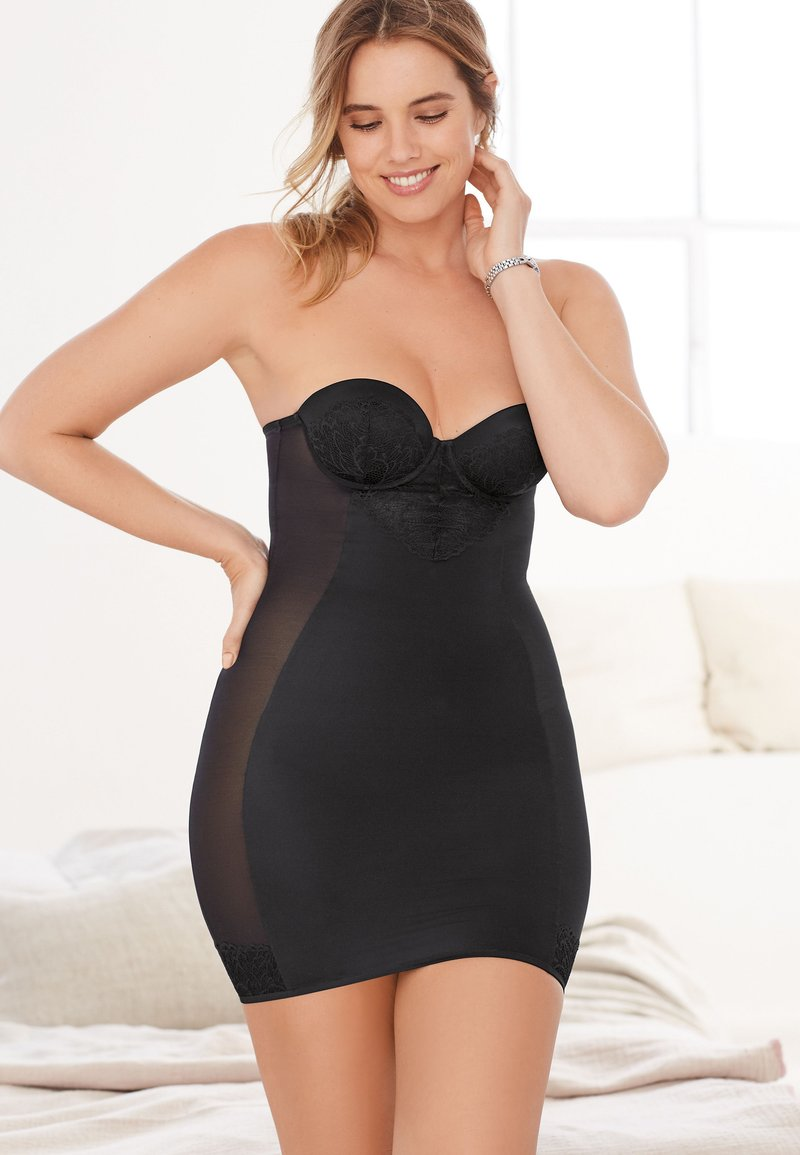 Next - FIRM CONTROL CUPPED LACE SLIP - Shapewear - black