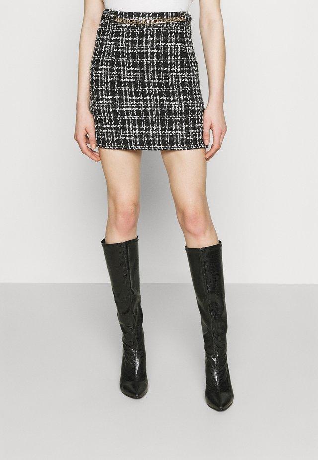 CHAIN MINI SKIRT - Mini skirt - black