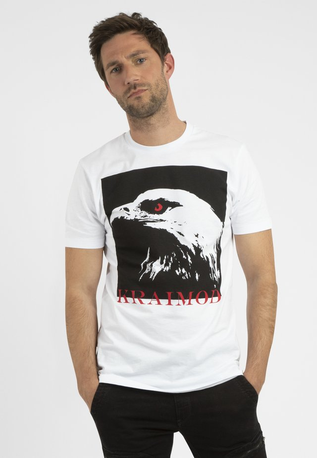 MIT DRUCK - T-shirt con stampa - weiß