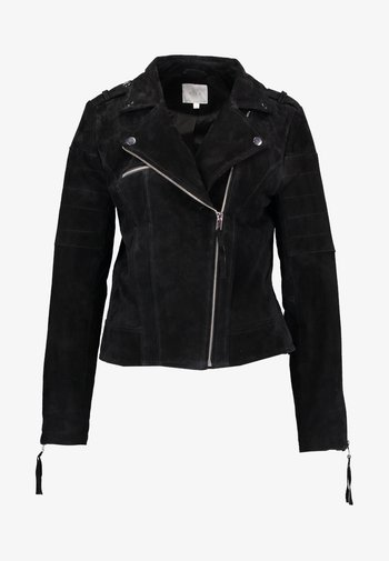 VICRIS - Leather jacket - black