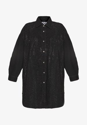 DRESS - Denim dress - black