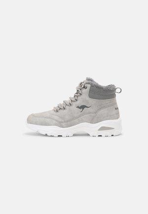 KW-COZY - Nauhalliset nilkkurit - vapor grey/steel grey