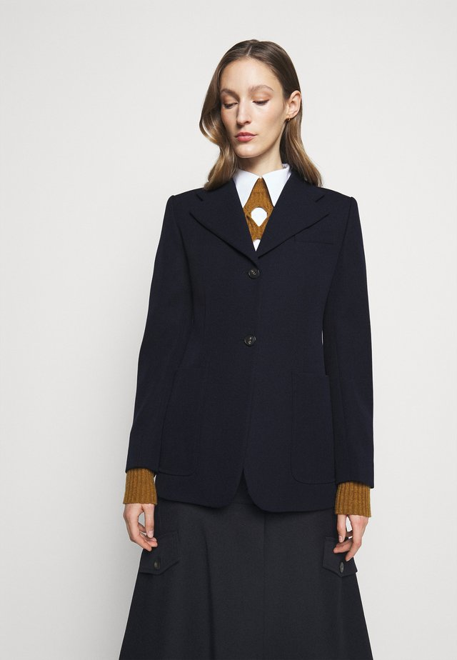 SMALL REVERS FITTED JACKET - Blazer - dark navy