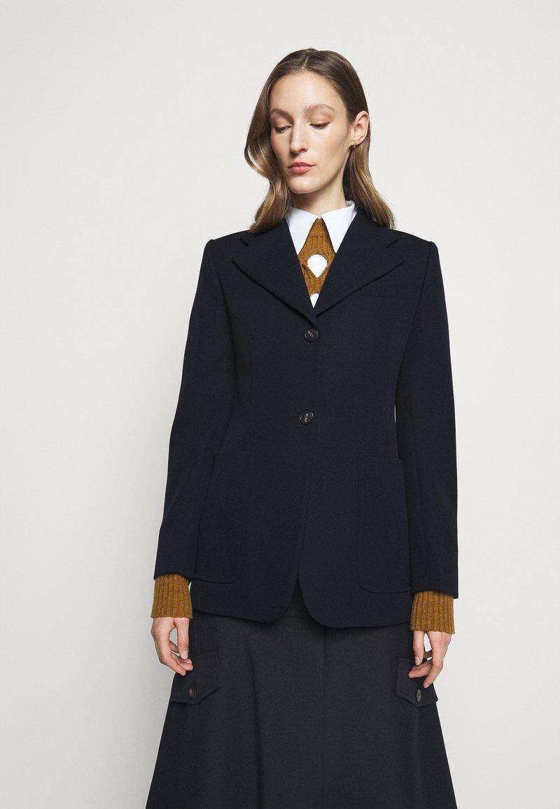 Victoria Beckham - SMALL REVERS FITTED JACKET - Sportovní sako - dark navy