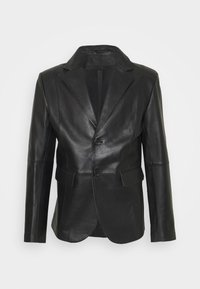 STUDIO ID - VINCENT LEATHER BLAZER - Kožená bunda - black - 6