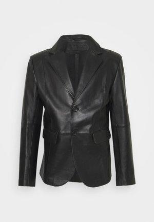 VINCENT LEATHER BLAZER - Chaqueta de cuero - black