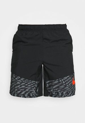 SHORT - Korte sportsbukser - black/team orange
