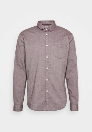 SLUB STRUCT - Shirt - bordeaux red