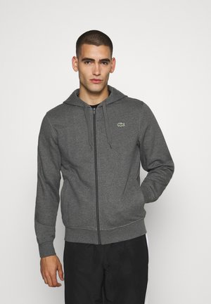 CLASSIC HOODIE JACKET - Luvtröja - pitch chine/graphite sombre