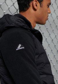 Superdry - SONIC CITY HYBRID - Zip-up hoodie - black - 2