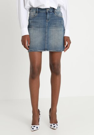 ALICE - Denim skirt - mid shadded milan