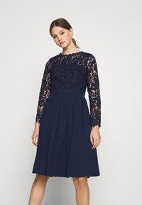 Chi Chi London - LYANA DRESS - Cocktail dress / Party dress - navy - 0