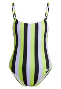 Solid & Striped - THE NINA STRIPE - Swimsuit - lavender/lime/black - 0