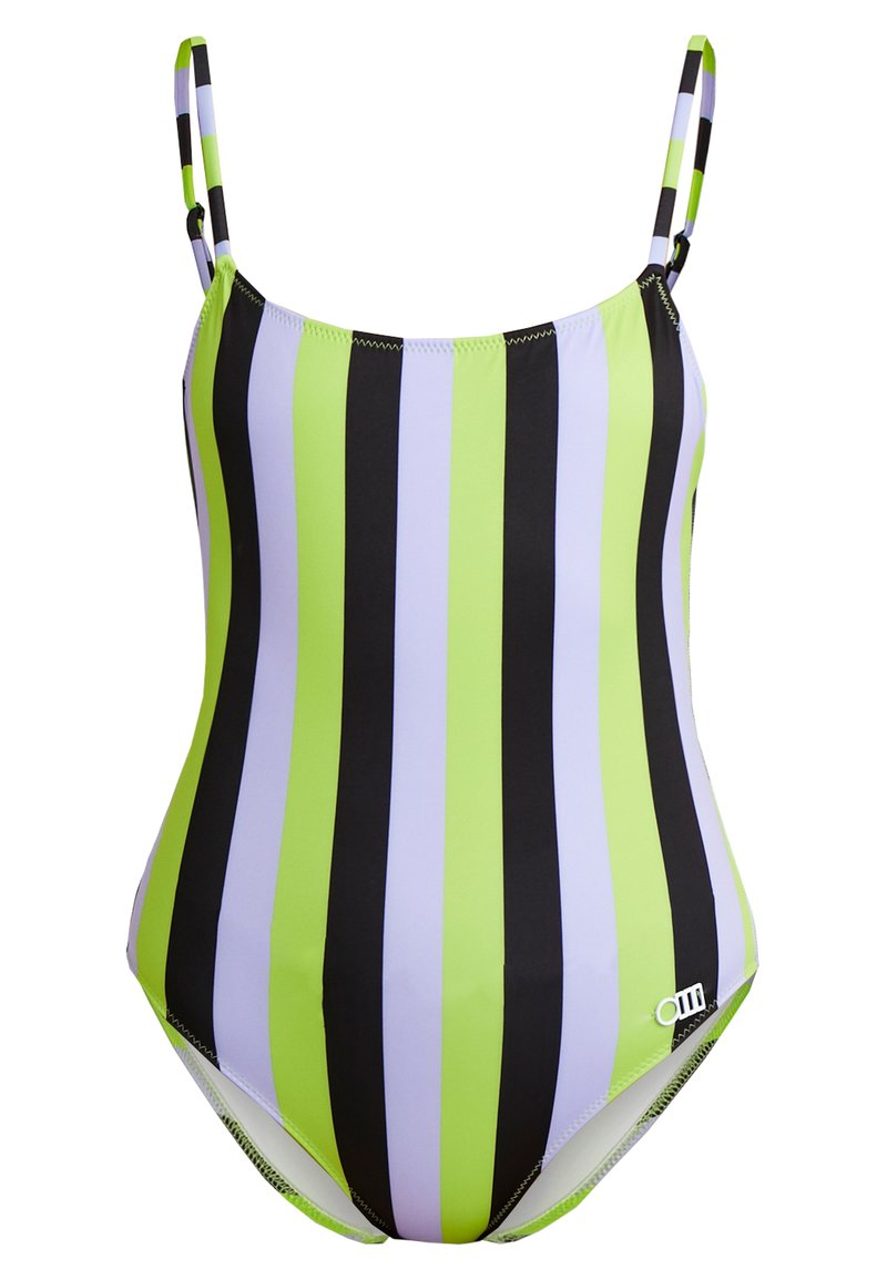 Solid & Striped - THE NINA STRIPE - Swimsuit - lavender/lime/black
