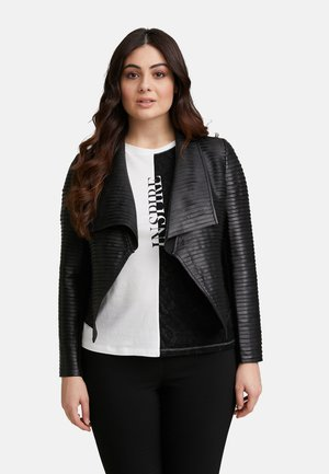 Faux leather jacket - nero