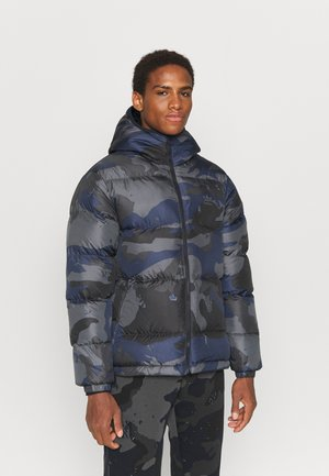 CAMO PUFF JACKET - Giacca invernale - night navy