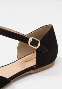 Pier One Wide Fit - Ankle strap ballet pumps - black - 2