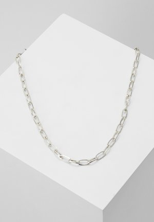 ELONGATED LINK NECKLACE - Necklace - silver-coloured