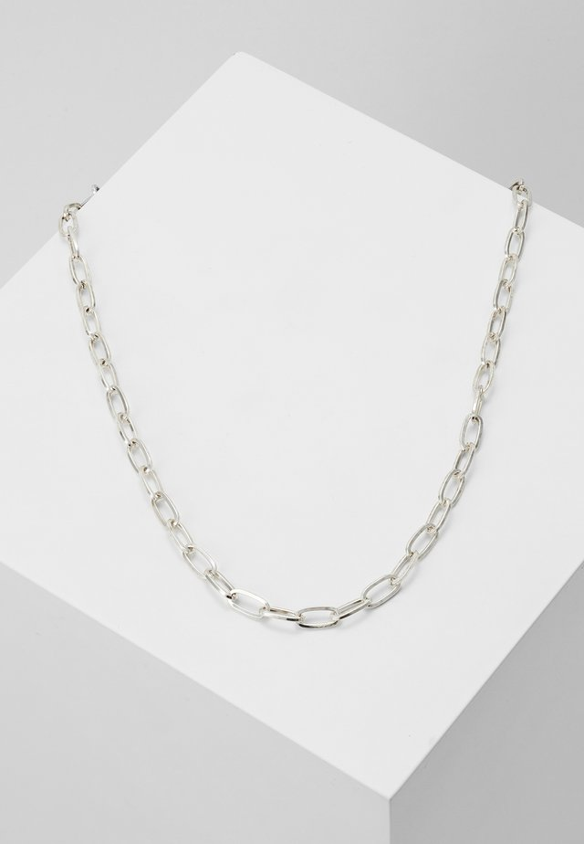 ELONGATED LINK NECKLACE - Ketting - silver-coloured