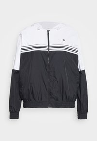 Calvin Klein Jeans Plus - STRIPE TAPE - Windbreaker - white