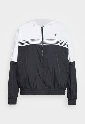 STRIPE TAPE - Windbreaker - white