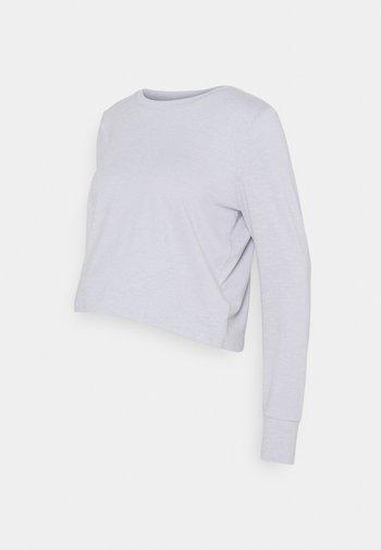 CROSS BACK LONG SLEEVE - Long sleeved top - grey marle