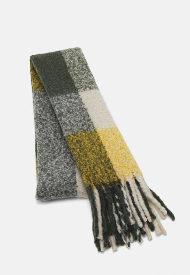 PCBEA LONG SCARF - Sjal - duffel bag/nugget gold