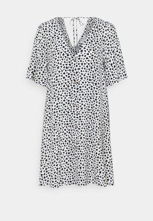 Korte jurk - white/black