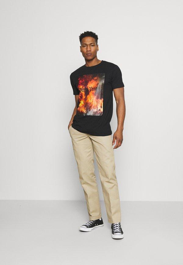 Denim Project TREE TEE - T-shirt z nadrukiem - black/czarny Odzież Męska SUBM