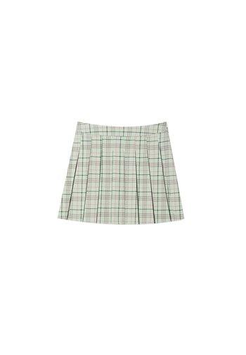 KARIERTER - A-line skirt - green