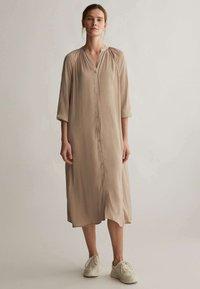 OYSHO - Shirt dress - beige - 0