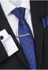 Massi Morino - 4 PIECE SET - Cravatta - blau quadrat - 3