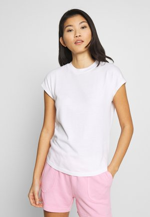 T-SHIRT, CUT-ON SLEEVE, HIGH-NECK - Jednoduché triko - white
