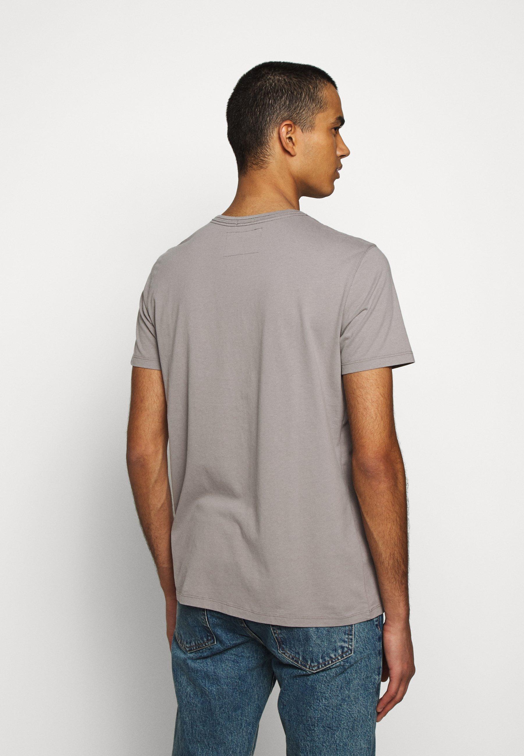 True Religion CREW BRAND HORSESHOE - Print T-shirt - grey qNtlH