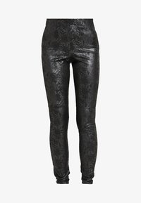 Vero Moda Tall - VMDESTROY SNAKE LEG - Leggings - black - 3