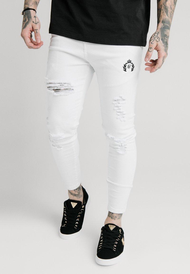 SIKSILK - DISTRESSED PRESTIGE - Skinny džíny - white