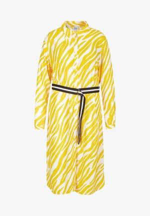 BLUSENKLEID MIT WEBGÜRTEL - Day dress - gelb