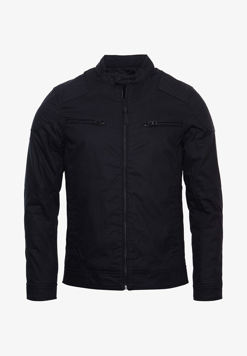 Superdry - Faux leather jacket - navy