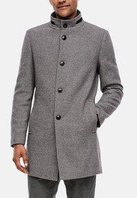 s.Oliver BLACK LABEL - STEHKRAGEN - Short coat - grey melange - 3