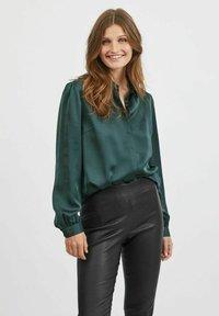 Vila - VIELLETTE - Button-down blouse - darkest spruce - 0