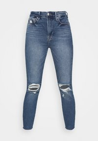 Good American - WAIST CROP RAW EDGE - Jeans Skinny Fit - blue - 4
