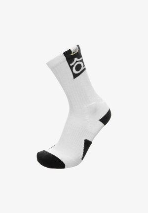 KEVIN DURANT ELITE CREW - Sports socks - white / black