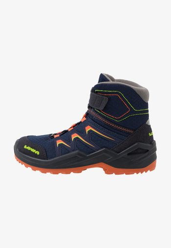 MADDOX WARM GTX - Winter boots - navy/orange
