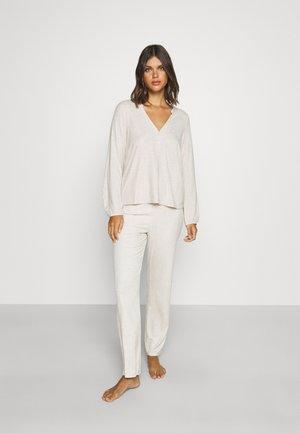 NIGHT - Pijama - beige melange