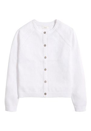 WHITE CARDIGAN (3-16YRS) - Kardigan - white