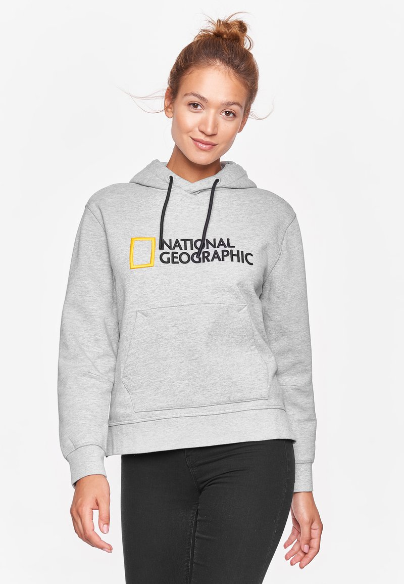 National Geographic - Hoodie - light grey melange