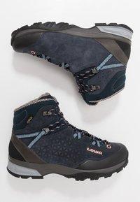 Lowa - SASSA GTX MID - Hiking shoes - navy/rosé - 1