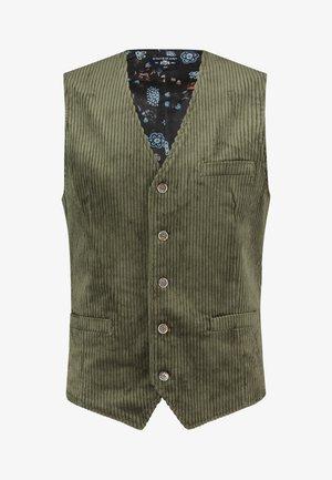 Waistcoat - moss green plain